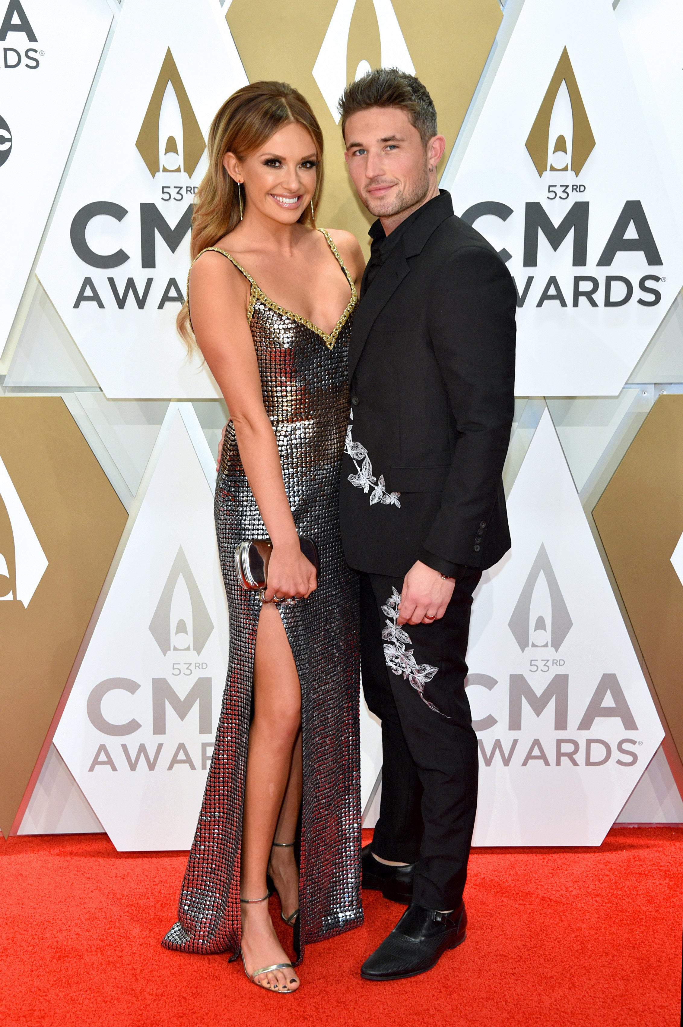 Carly Pearce and Michael Ray attend the 53rd annual CMA Awards on November 13, 2019, in Nashville, Tennessee. | Source: Getty Images.