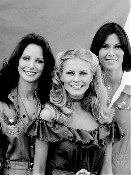 Publicity photo from Charlie's Angels, 1977. Pictured are Jaclyn Smith, Cheryl Ladd, and Kate Jackson. | Source: WIkimedia Commons