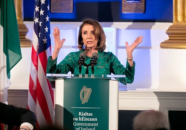 Nancy Pelosi at the State Apartments in Dublin Castle April 17, 2019 in Dublin, Ireland | Photo: Getty Images