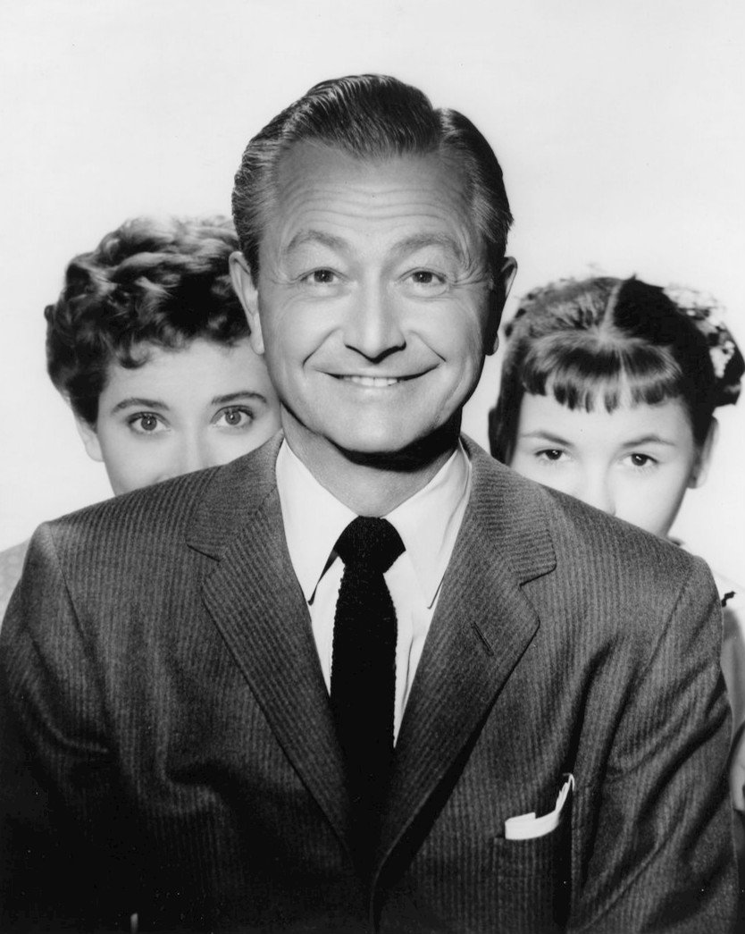 "Photo of Elinor Donahue, Robert Young and Lauren Chapin from the television series ""Father Knows Best"" circa 1958. 