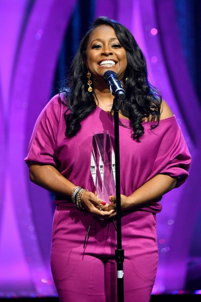 Keisha Knight Pulliam speaks onstage during 'BET Her Fights Breast Cancer' special event at The Riverside EpiCenter | Photo: Getty Images