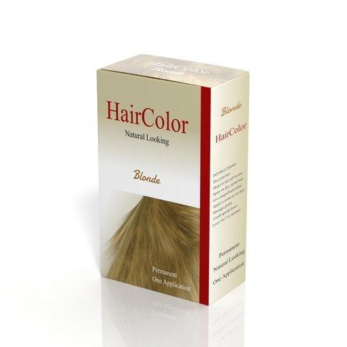 Boîte de teinture de cheveux sur fond blanc. | Shutterstock