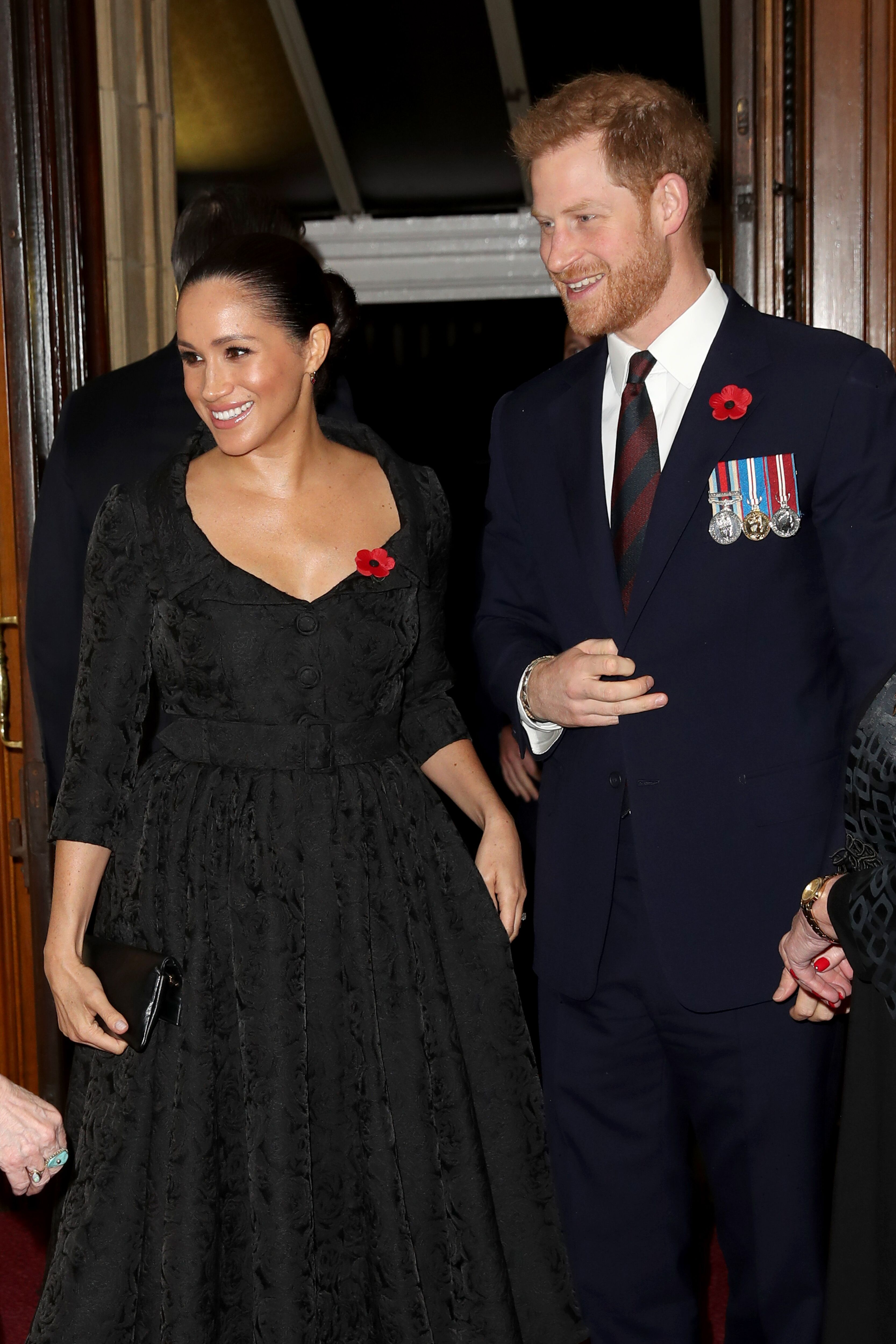 The Duke and Duchess of Sussex joined the Queen to the annual Royal British Legion Festival of Remembrance at the Royal Albert Hall | Source: Getty Images/GlobalImagesUkraine