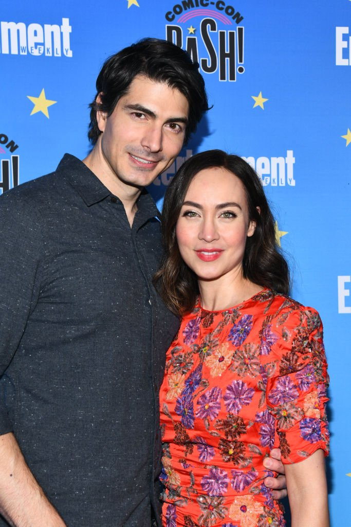 Brandon Routh and Courtney Ford at the Entertainment Weekly Comic-Con Celebration on July 20, 2019 | Photo: Getty Images