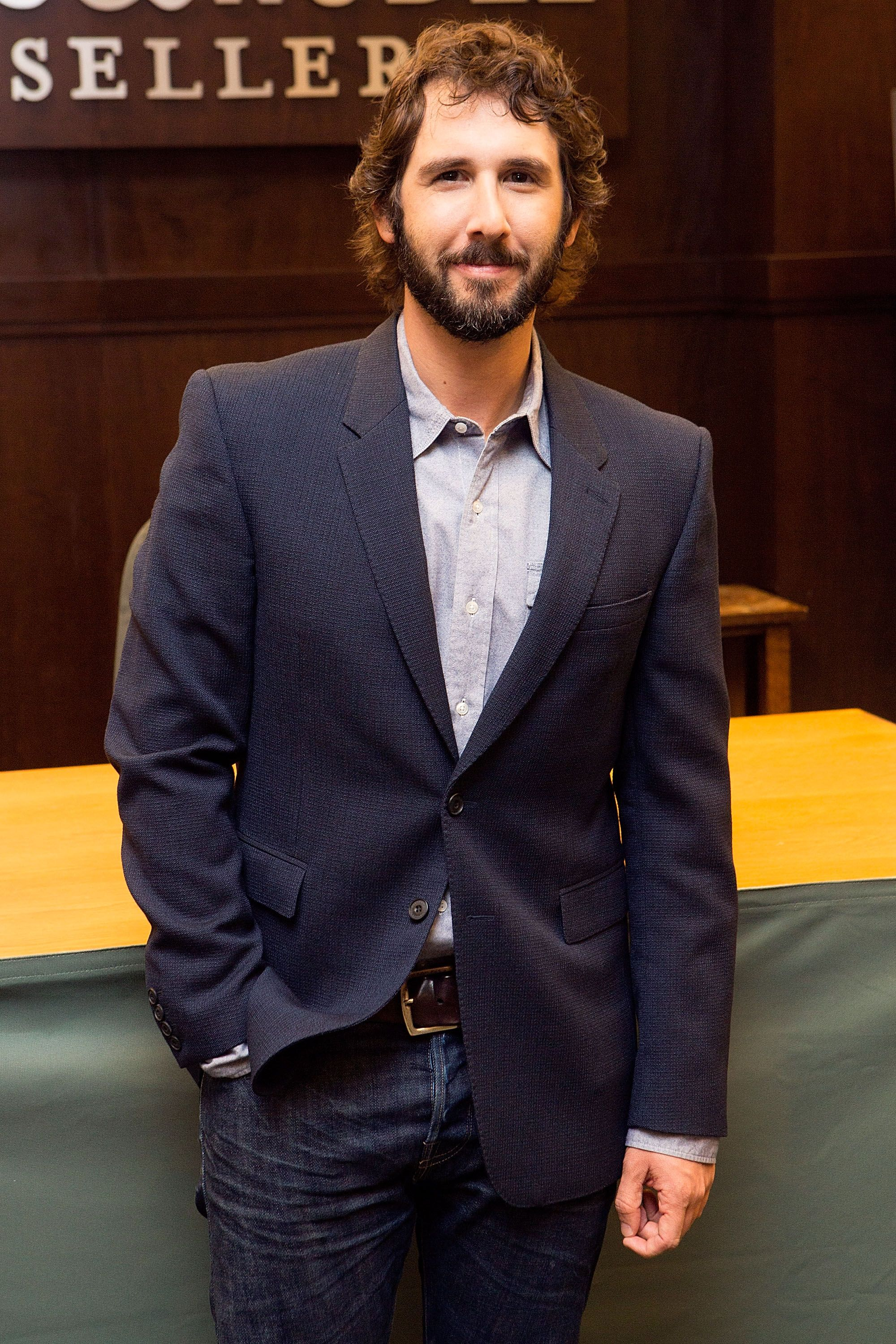 """Josh Groban signs copies of his new album """"Stages"""" at Barnes & Noble bookstore on May 8, 2015, in Los Angeles, California 