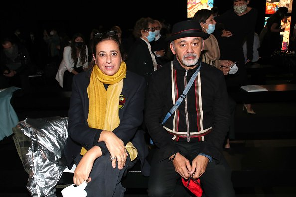 India Mahdavi et Christian Louboutin, le 29 septembre 2020 à Paris, France. | Photo : Getty Images