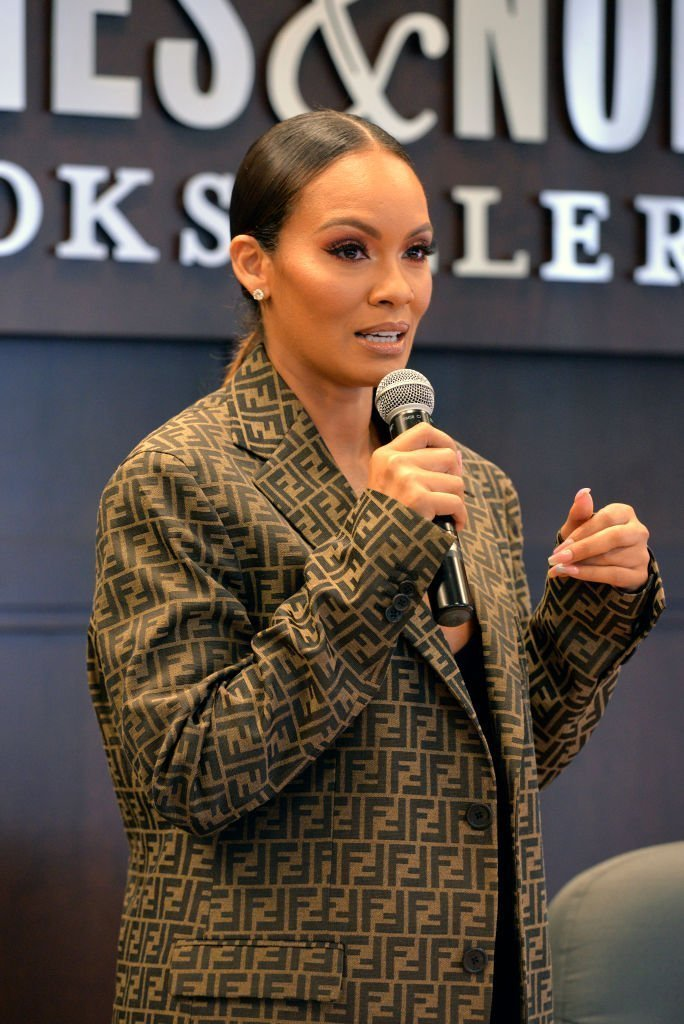 "Evelyn Lozada attends a Q&A and signing event for her new book ""The Perfect Date"" at Barnes & Noble at The Grove on June 15, 2019 in Los Angeles, California. 