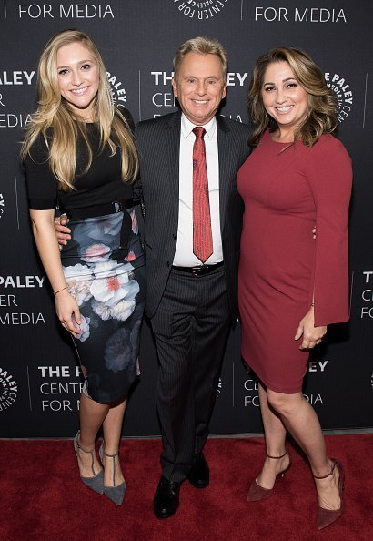 Maggie Sajak, Pat Sajak, and Lesly Brown at The Paley Center for Media on November 15, 2017 in New York City. | Photo: Getty Images