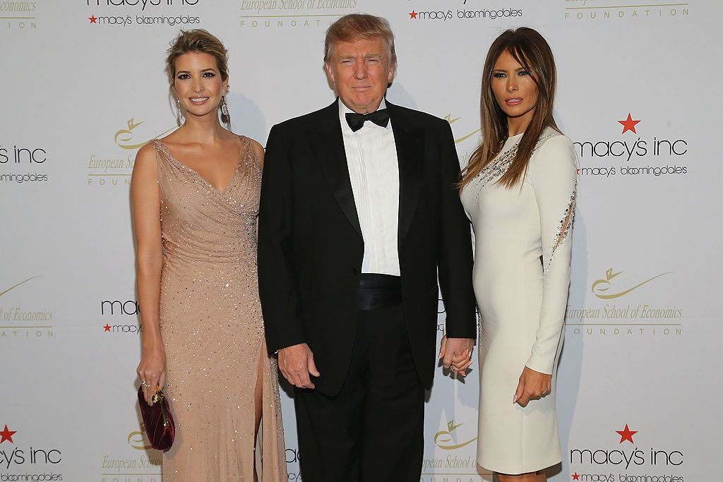 vanka Trump, Donald Trump and Melania Trump attends European School Of Economics Foundation Vision And Reality Awards on December 5, 2012 in New York City. | Source: Getty Images