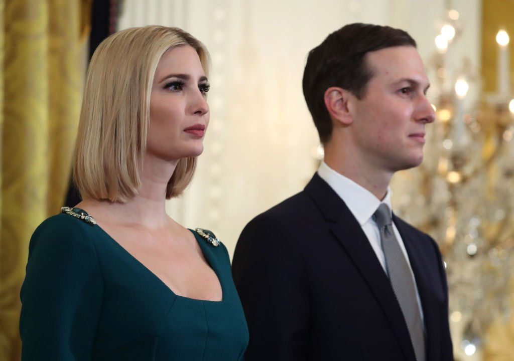White House senior advisors Ivanka Trump and her husband Jared Kushner attend a Hanukkah Reception in the East Room of the White House | Photo: Getty Images