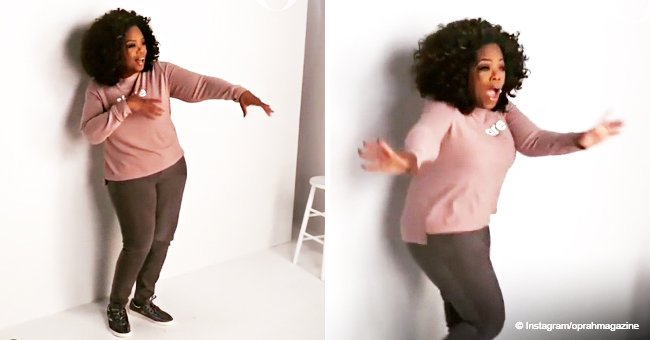 Oprah does Drake's 'In My Feelings' challenge while shooting the new cover of O, The Oprah Magazine