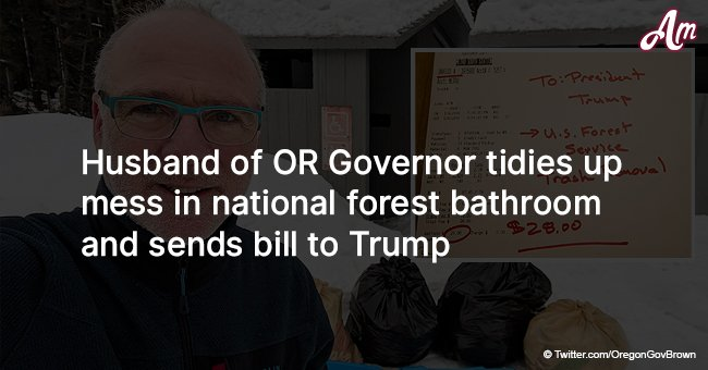 Husband of OR Governor tidies up mess in national forest bathroom and sends bill to Trump