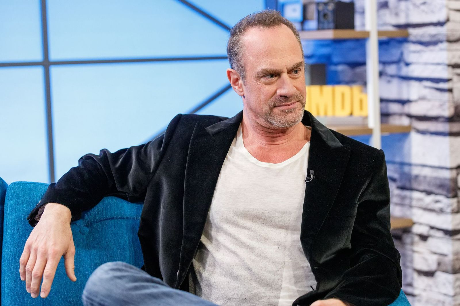 """Christopher Meloni visits """"The IMDb Show"""" on March 26, 2019, in Studio City, California   Photo: Rich Polk/Getty Images"""