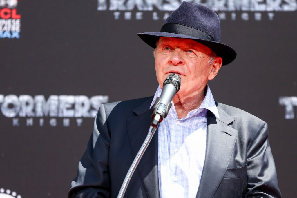 Anthony Hopkins speaks during the Michael Bay Hand and Footprint Ceremony at TCL Chinese Theatre IMAX  | Getty Images