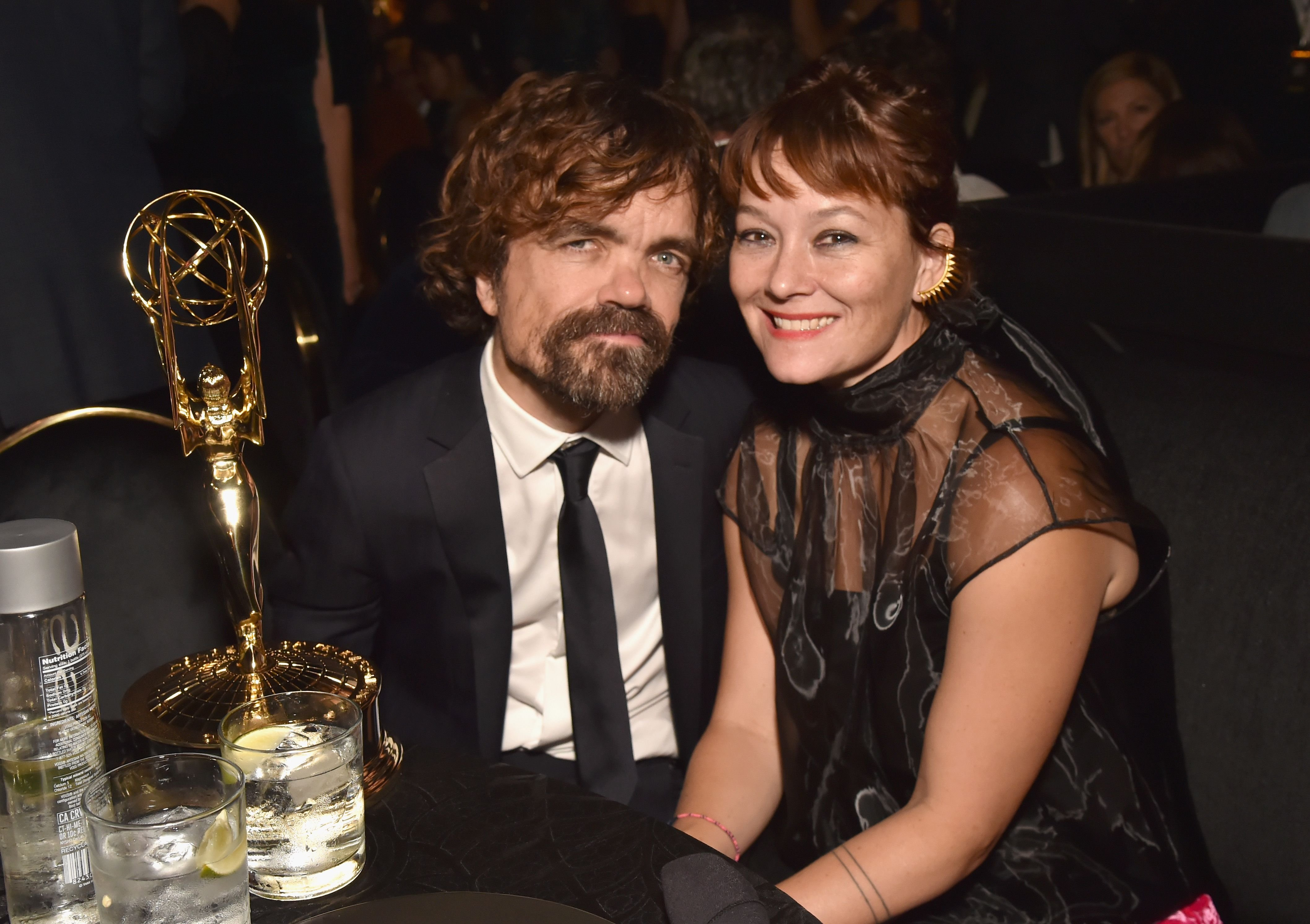 Peter Dinklage and Erica Schmidt at THE HBO Official 2018 Emmy After Party in Los Angeles, California   Source: Getty Images