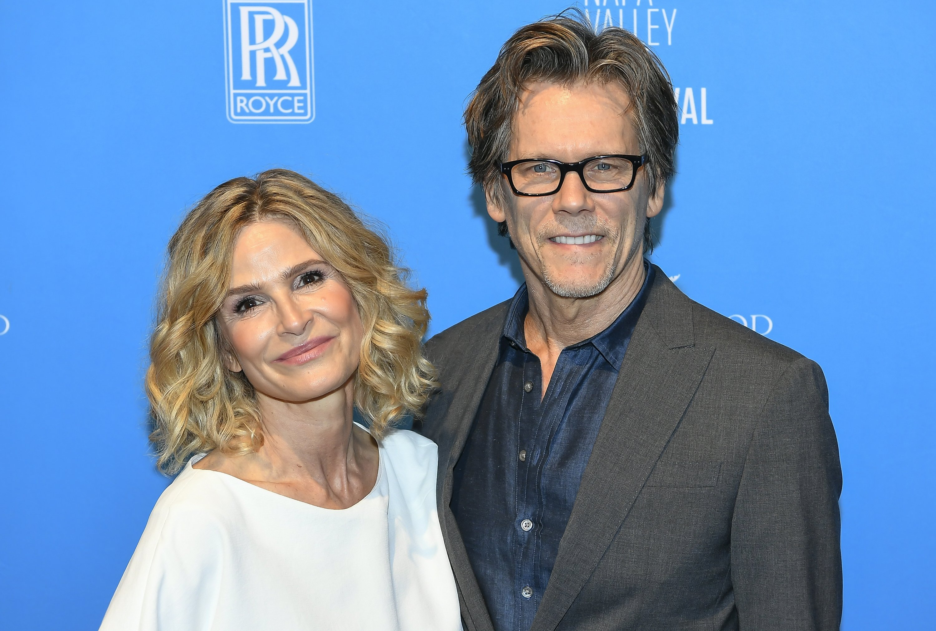 """Kyra Sedgewick and her husband, Kevin Bacon at the """"Napa Valley Film Festival"""" in Napa, November, 2013. 