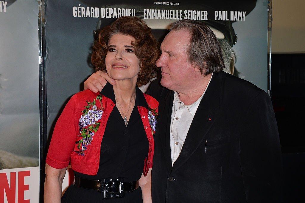 Fanny Ardant et Gérard Depardieu. l Source: Getty Images