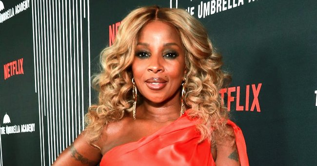 Mary J Blige Stuns in a Close-up Selfie Wearing Huge Gold Hoop Earrings & a High Ponytail