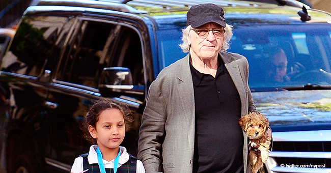Robert De Niro Spotted Going for Ice Cream with His 7-Year Old Daughter in New York City