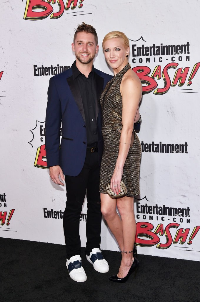 Katie Cassidy and Matthew Rodgers at Entertainment Weekly's annual Comic-Con party | Getty Images