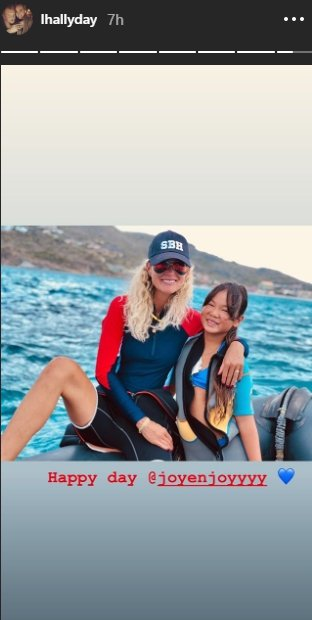 Capture d'écran du stories de Laeticia Hallyday | lhallyday/Instagram