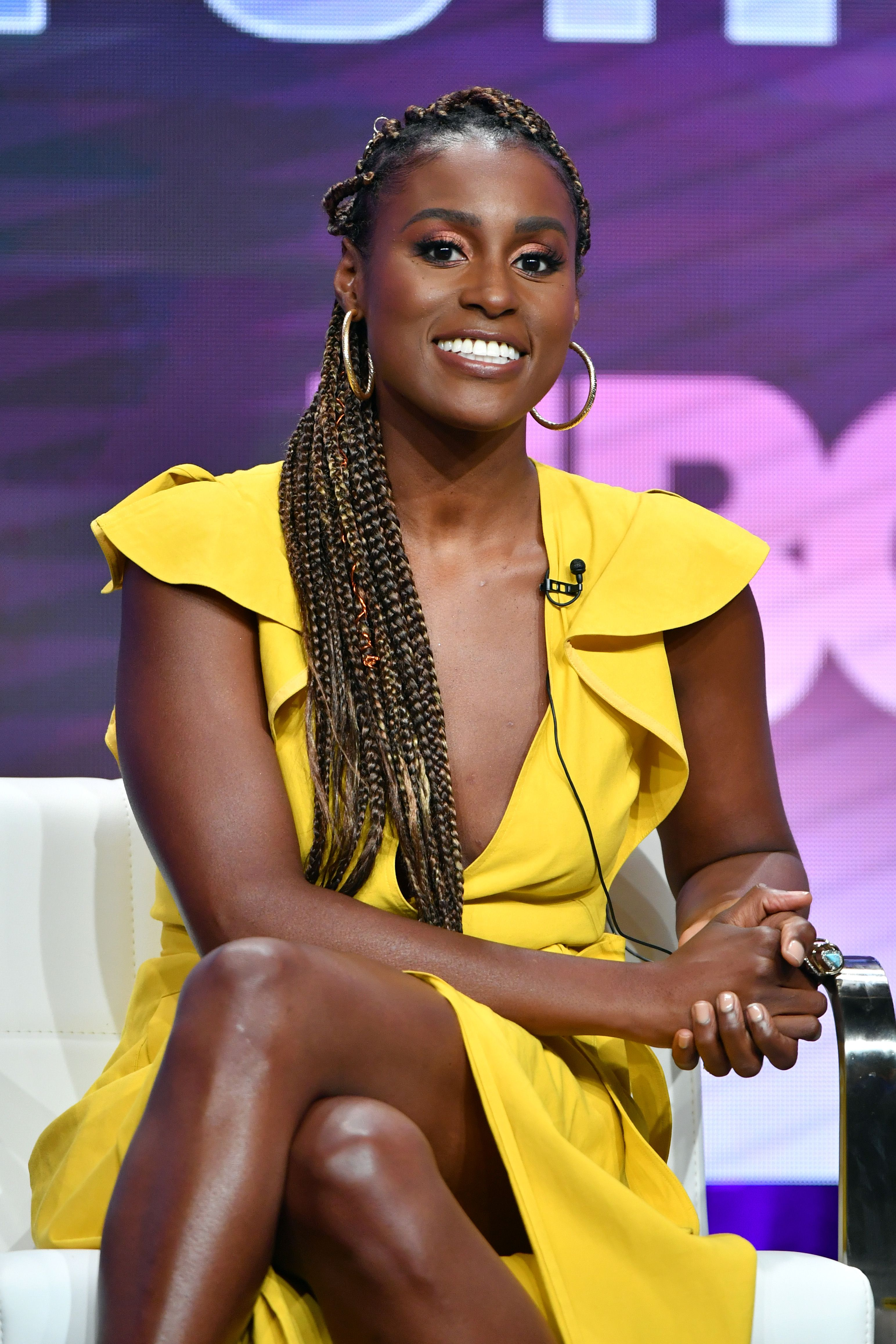 Issa Rae at HBO segment of the Summer 2019 Television Critics Association Press Tour in Beverly Hills on July 24, 2019.    Photo: Getty Images