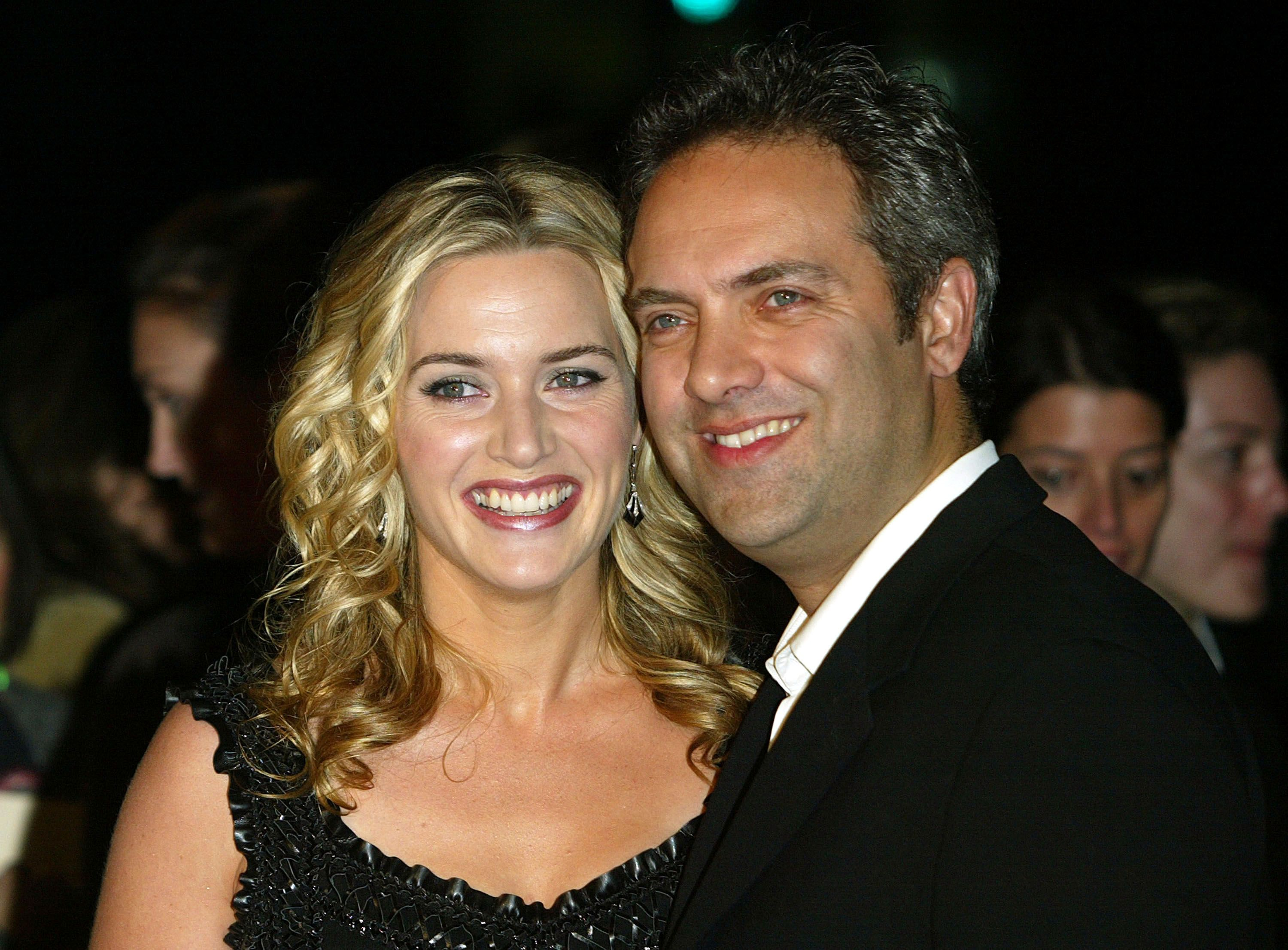 """Kate Winslet and director Sam Mendes at the premiere of """"Finding Neverland"""" in 2004 in Beverly Hills   Source: Getty Images"""