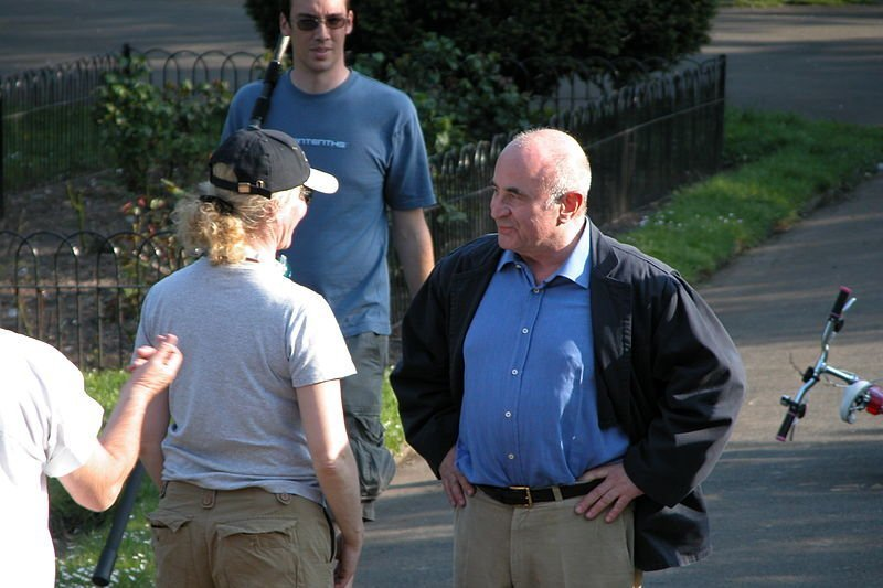 "Bob Hoskins filming ""Ruby Blue"" in Ellington. 