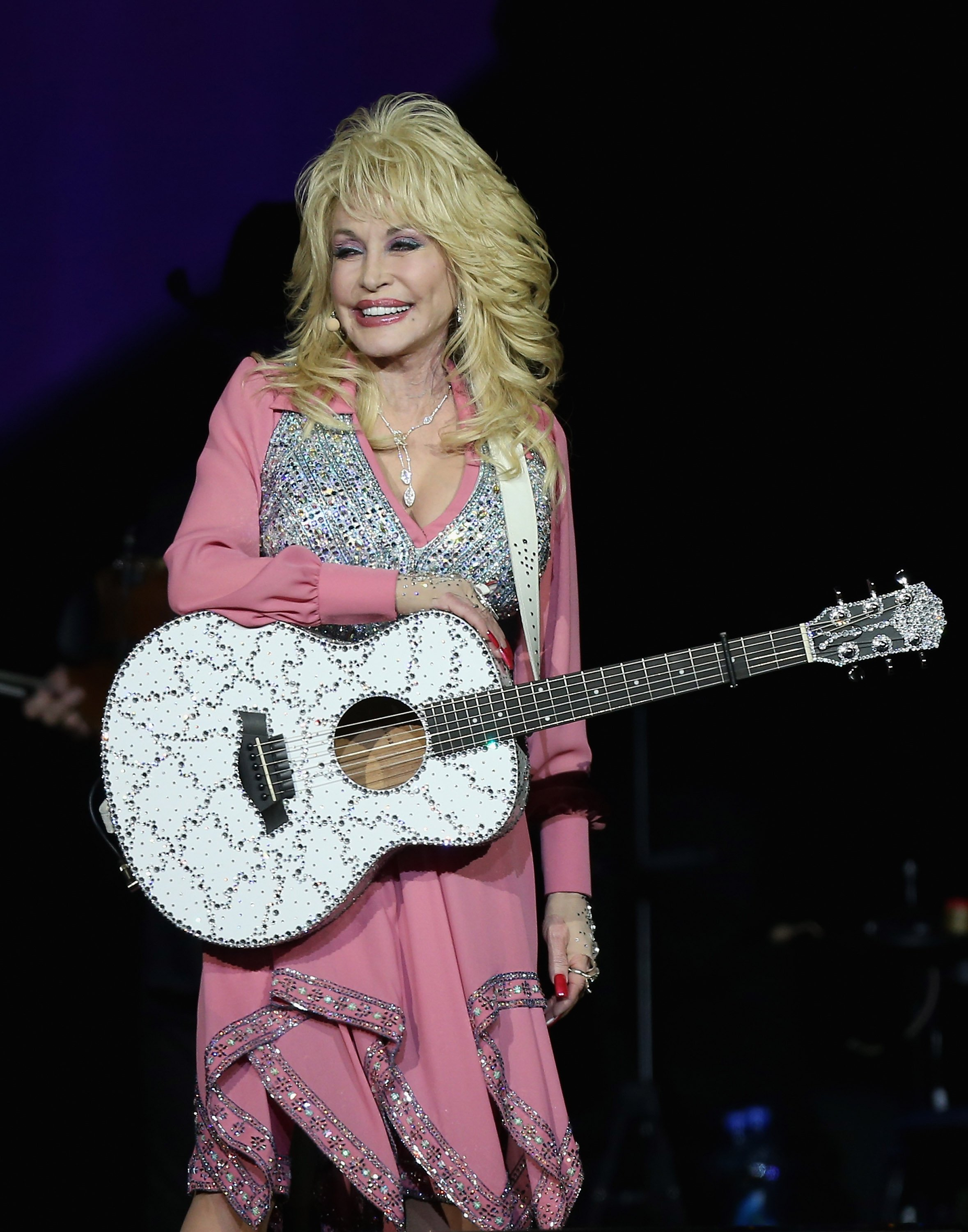 Dolly Parton performs live for fans at Vector Arena on February 7, 2014.   Source: Getty Images