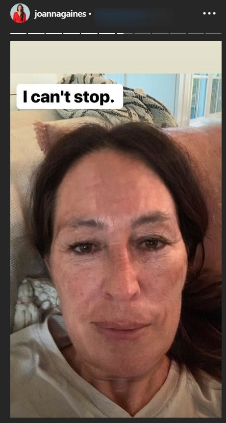 Joanna Gaines with the FaceApp aging-filter applied | Photo: Instagram Story/Joanna Gaines 1