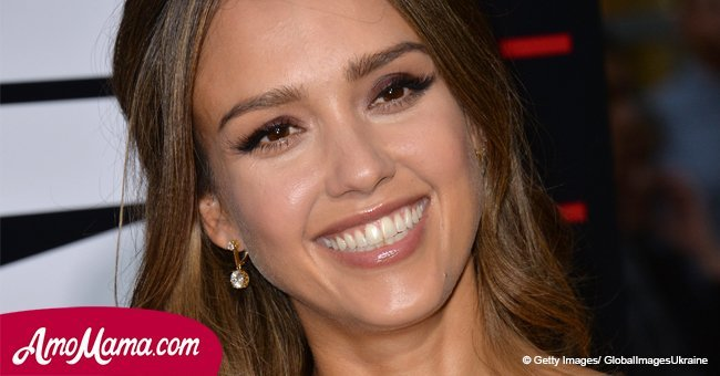 Jessica Alba, 36, shows off her natural beauty while sporting a make-up-free look in public