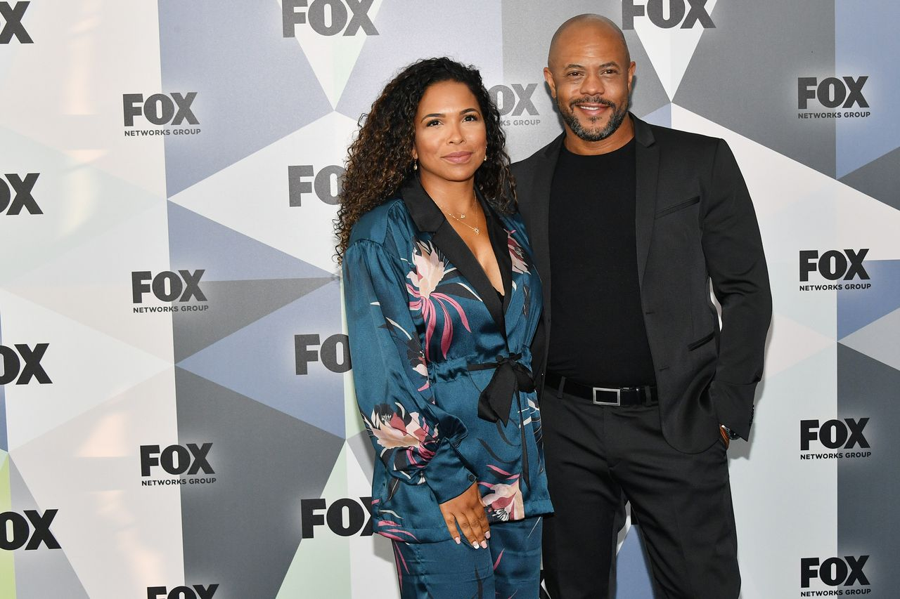 Maya Gilbert and Rockmond Dunbar during the 2018 Fox Network Upfront at Wollman Rink, Central Park on May 14, 2018 in New York City. | Source: Getty Images