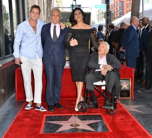 Michael Douglas, Kirk Douglas, Catherine Zeta-Jones & Cameron Douglas at Hollywood Walk of Fame Star Ceremony on November 6, 2018, in Los Angeles, California. | Photo: Shutterstock