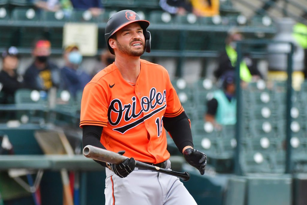 Trey Mancini on the field in the first inning during a spring training game on March 22, 2021 at LECOM Park in Bradenton, Florida. | Photo: Getty Images