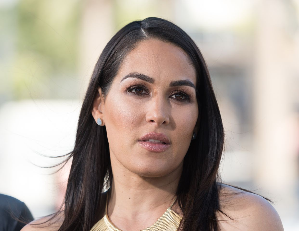 """Brie Bella at """"Extra,"""" Universal Studios Hollywood on October 26, 2017 in Universal City, California. 