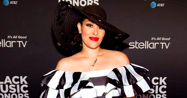 Pregnant Singer Keke Wyatt Flaunts Baby Bump in Black & White Outfit at 2019 Black Music Honors