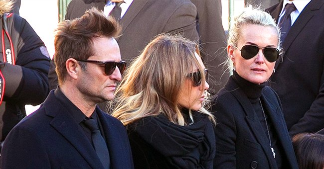 La famille Hallyday lors de l'enterrement de Johnny Hallyday. | Photo : Getty Images