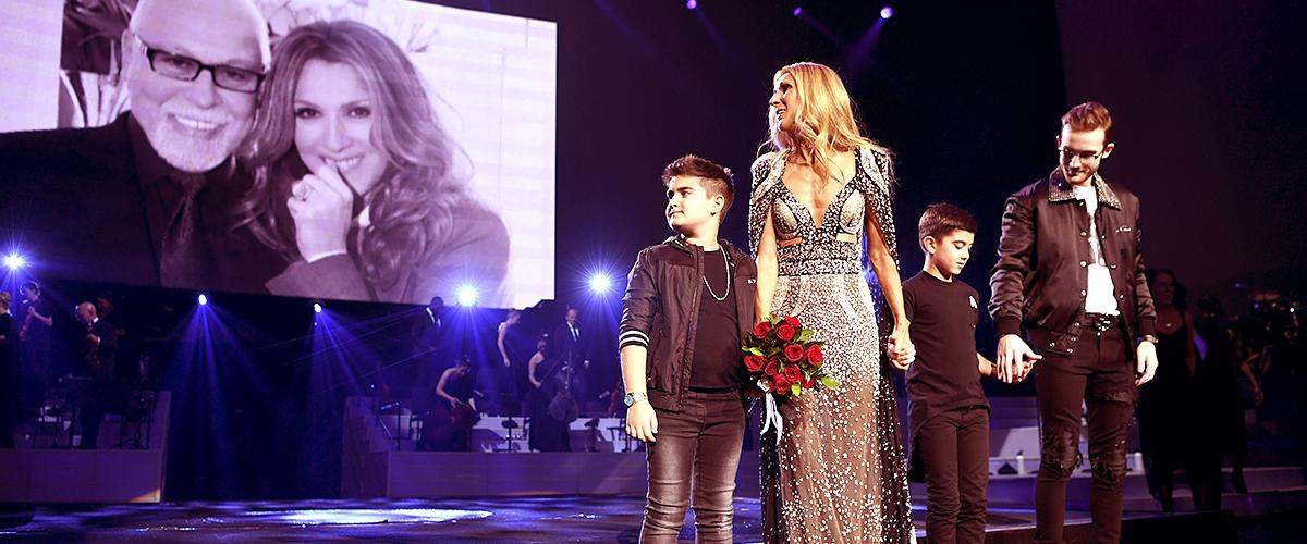 Le spectacle de Céline Dion à Las Vegas avec ses fils sur scène