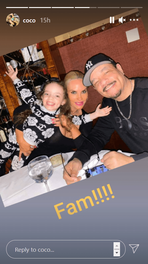 Coco Austin, her husband, Ice-T and their daughter, Chanel, posing for a group photo | Photo: Instagram/coco