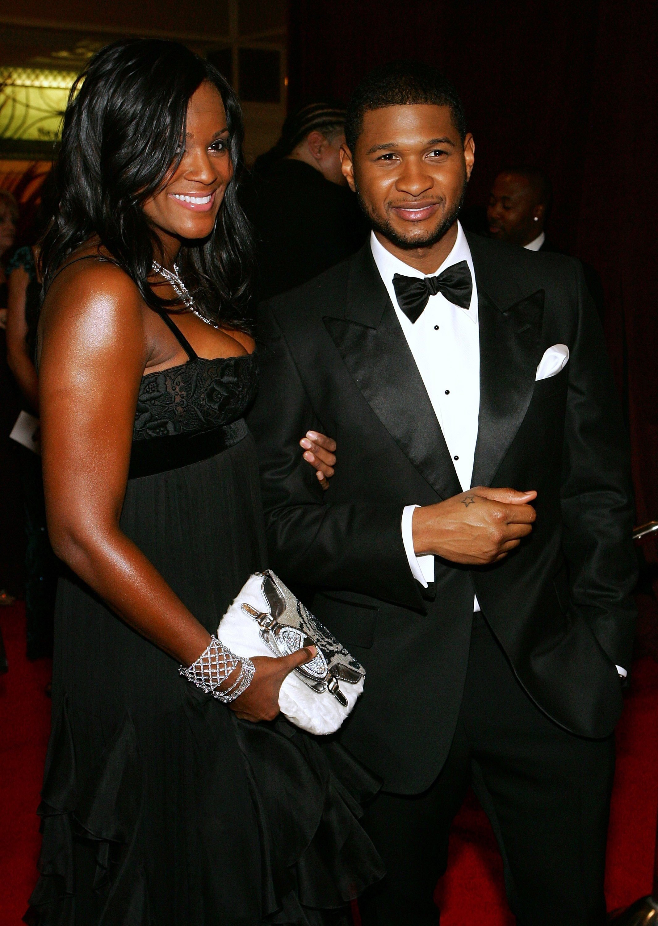 Usher Raymond and Tameka Foster attend the 15th annual Trumpet Awards at the Bellagio January 22, 2007.   Photo: Getty Images