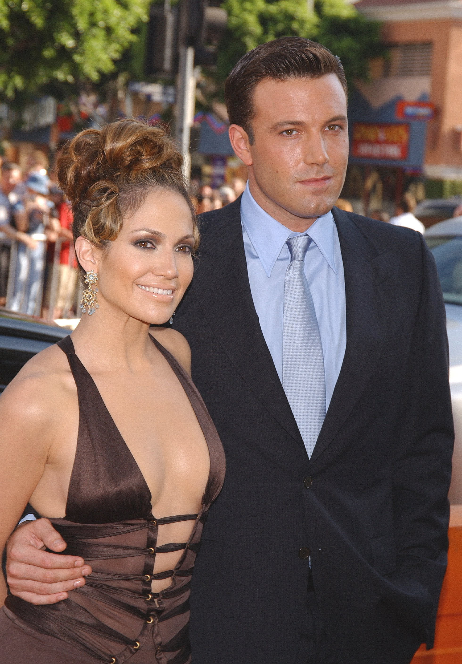 """Ben Affleck and Jennifer Lopez at the premiere of """"Gigli"""" in 2003 
