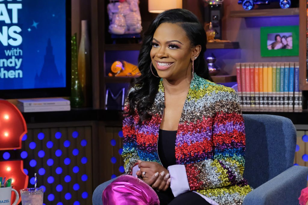 """Kandi Burruss on """"Watch What Happens Live with Andy Cohen"""" on January 12, 2020. 