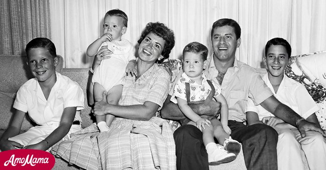 Image of Jerry Lewis, his first wife, Patti Palmer and their kids   Photo: Getty Images