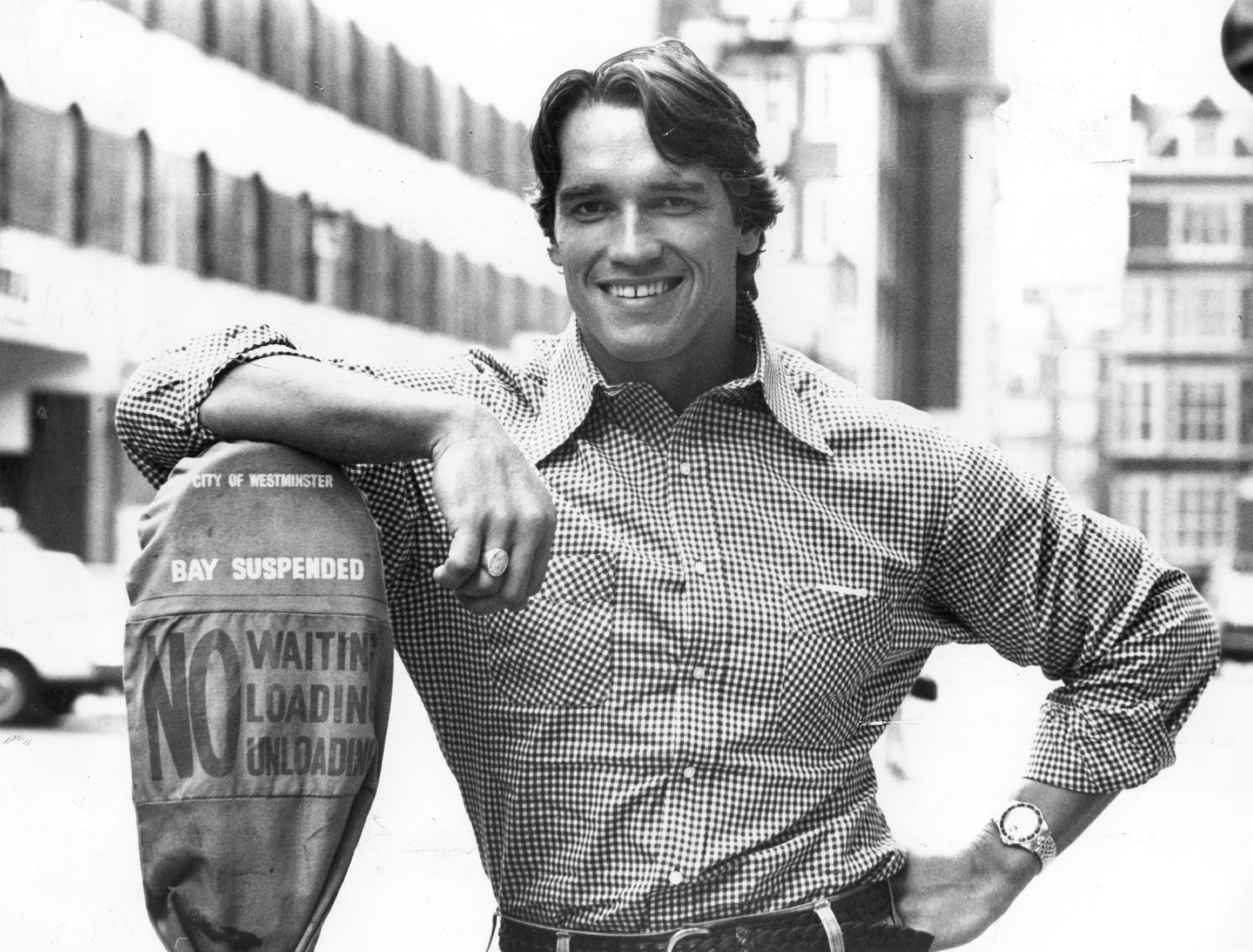 Picture taken of Arnold Schwarzenegger on September 01, 1977. | Source: Getty Images.