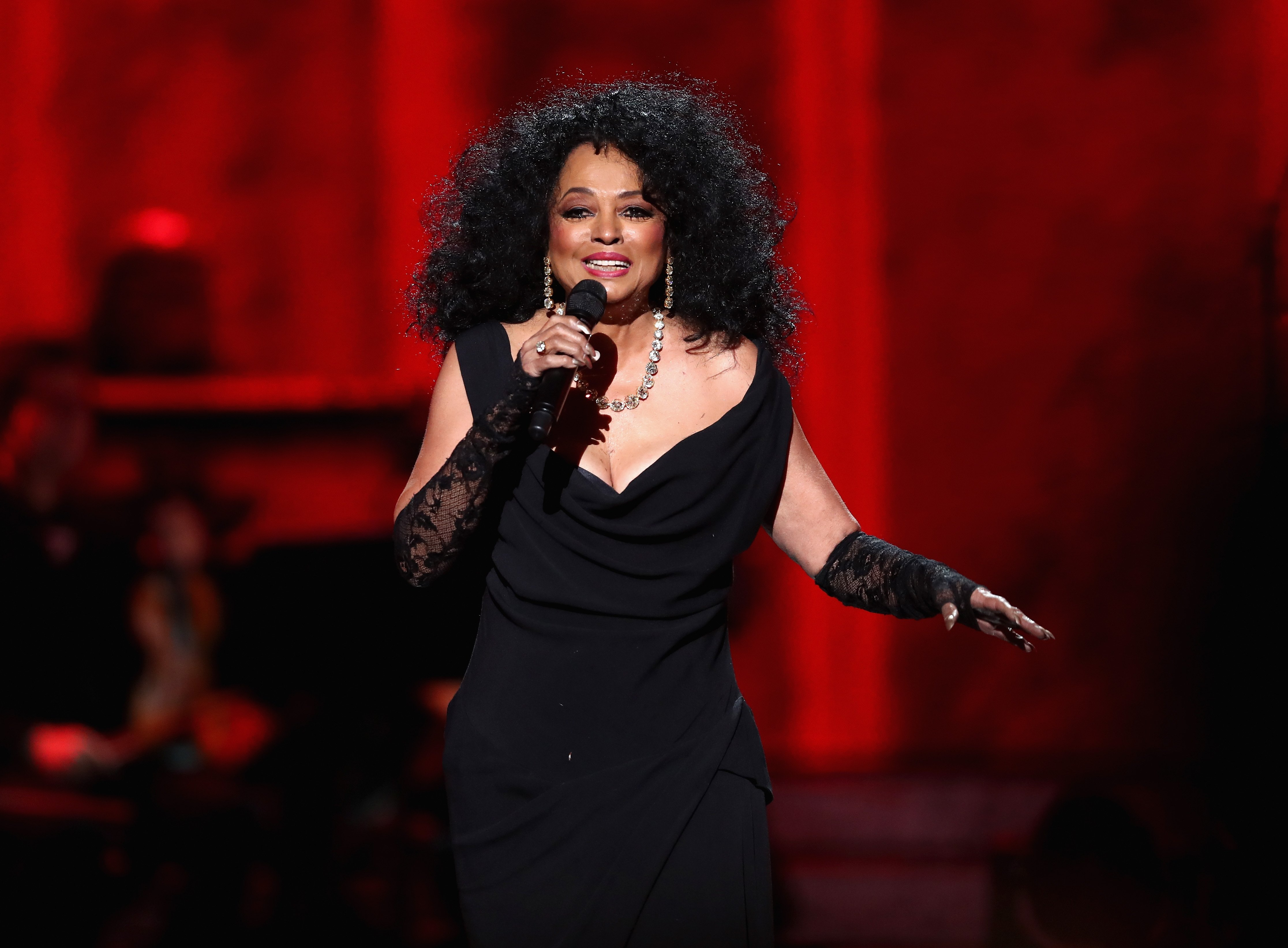 """Diana Ross performs onstage during """"Motown 60: A Grammy Celebration"""" at Microsoft Theater on February 12, 2019. 