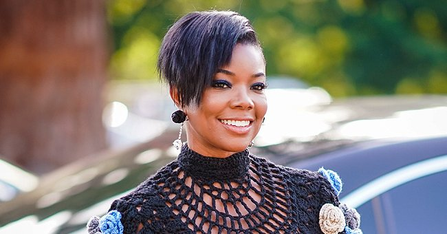 Gabrielle Union Redefines Fall Style in a Sheer Black Skirt with Crystals and Matching Cardigan