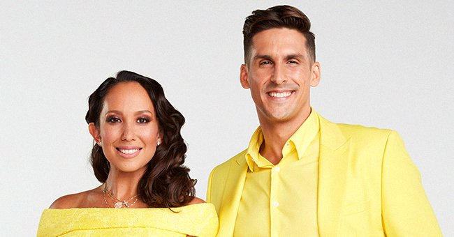 """A portrait of """"Dancing with the Stars"""" stars Cheryl Burke and Cody Rigsby, September 2021 
