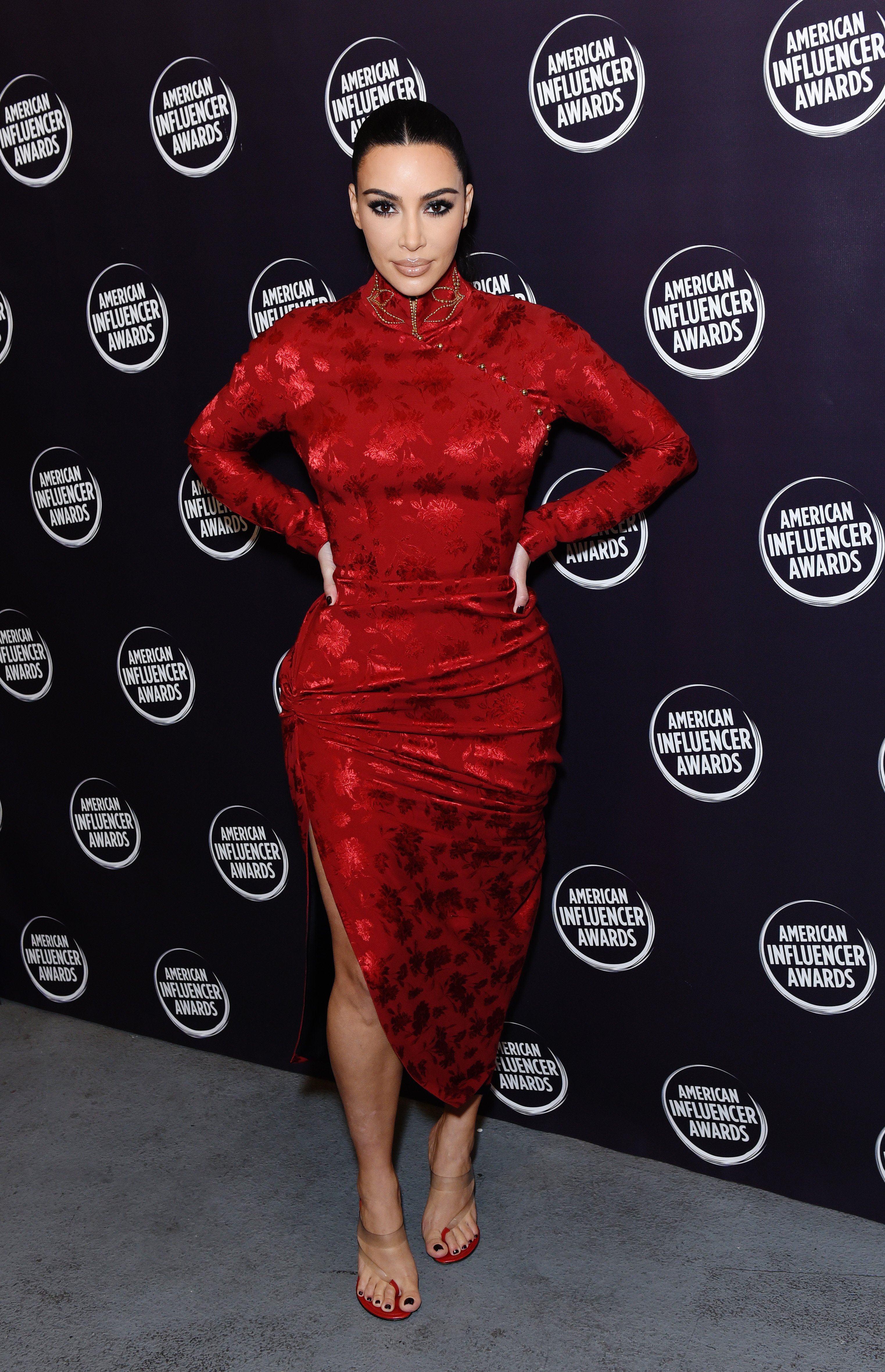 Kim Kardashian attends the American Influencer Awards in Hollywood, California on November 18, 2019 | Photo: Getty Images
