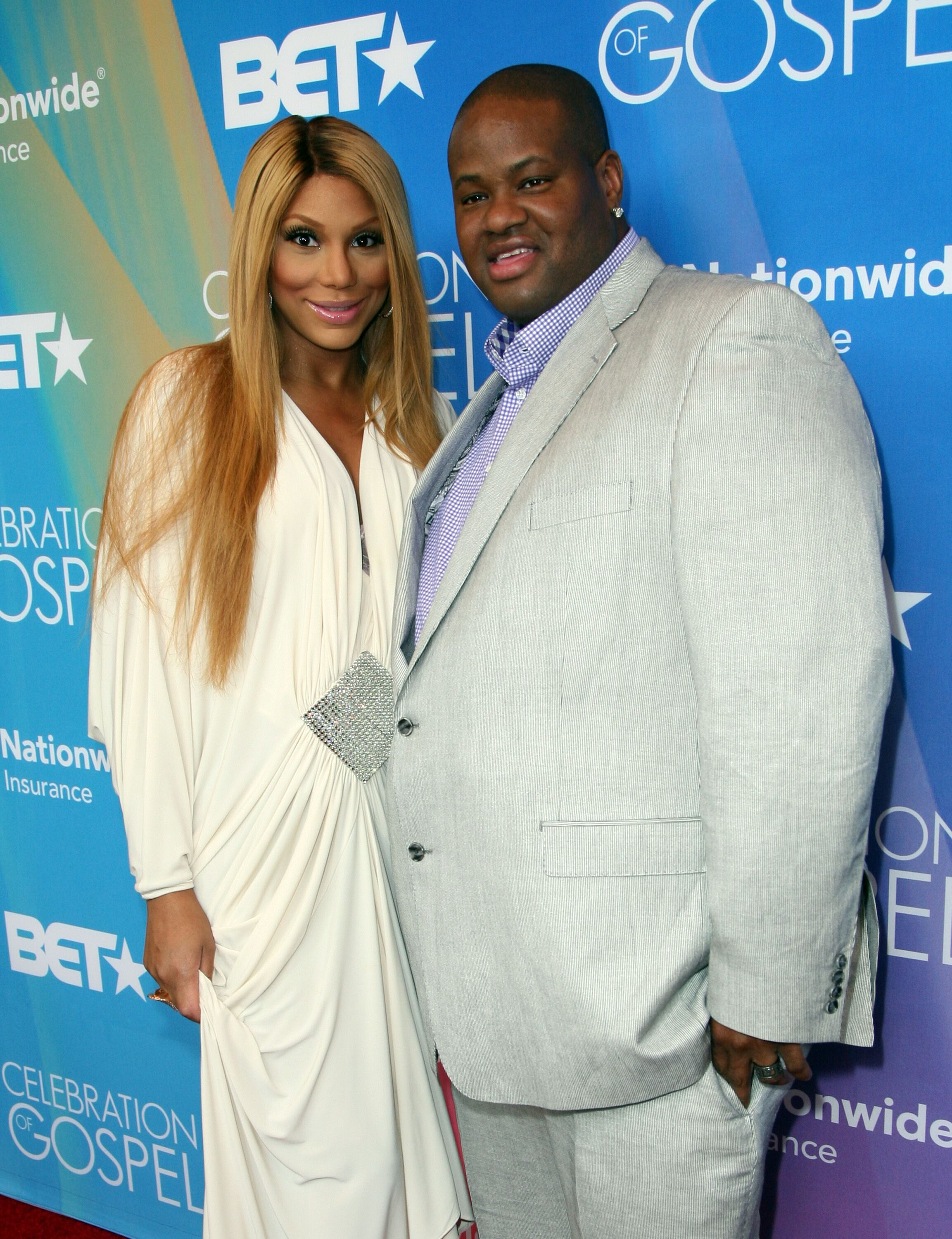 Tamar Braxton and songwriter Vincent Herbert attend the BET Celebration of Gospel 2013 at Orpheum Theatre on March 16, 2013 | Photo: Getty Images