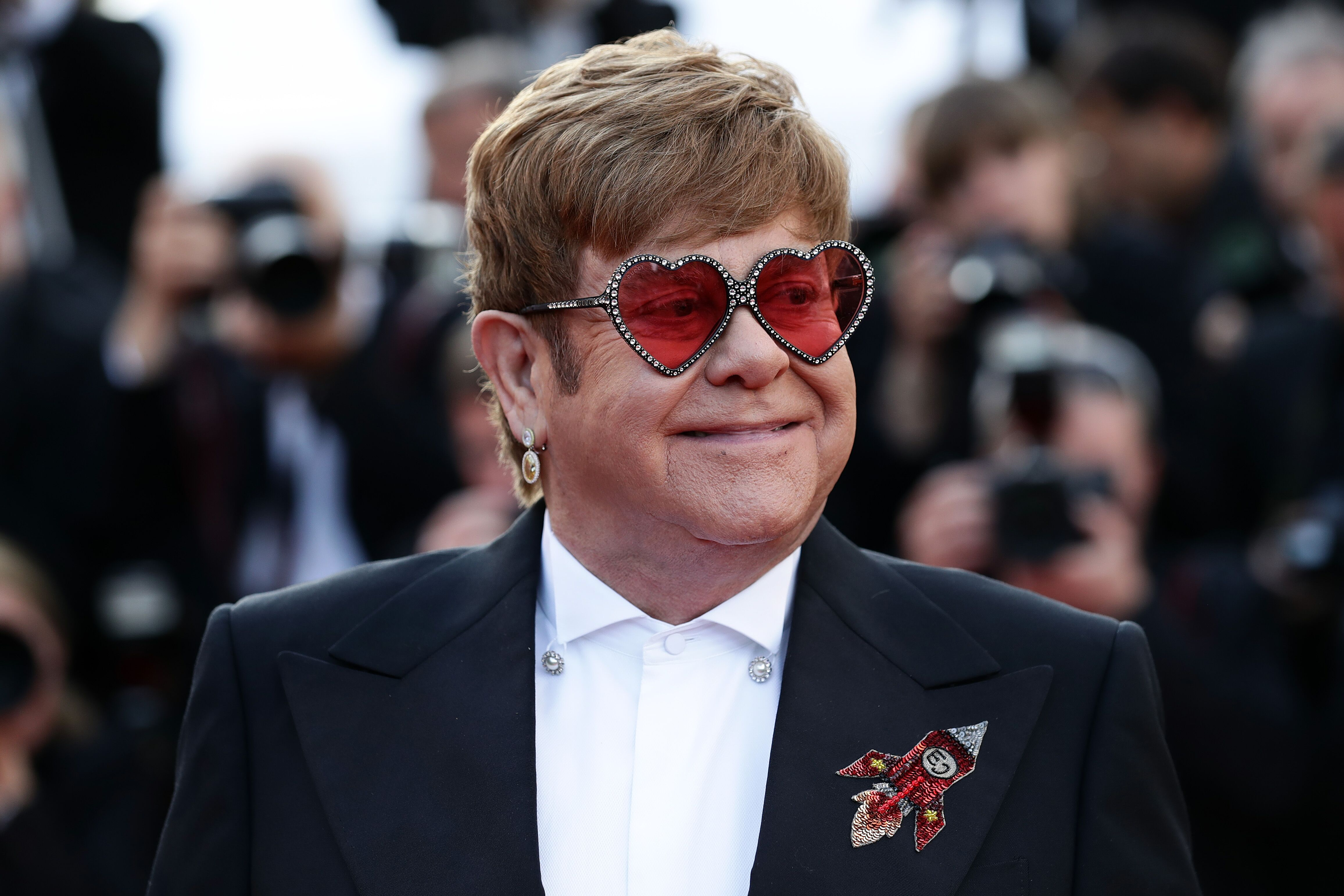 "Sir Elton John at the screening of ""Rocketman"" during the 72nd annual Cannes Film Festival on May 16, 2019, in France 
